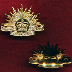 Collar Badge - G.S. Rising Sun (post96) (x1)