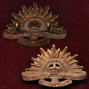 Collar Badge - G.S. Rising Sun (ACMF) (Stokes)