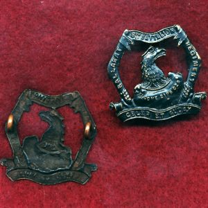 8 INF BN Collar Badge (City of Ballarat Regt) (w/R) (30/42)
