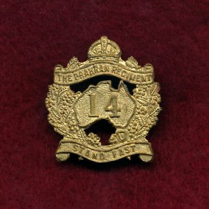 14 INF BN Collar Badge (Prahran Regt) (30/42)