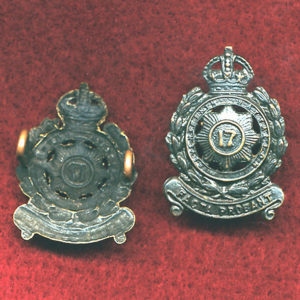 17 INF BN Collar Badge  (30/42)
