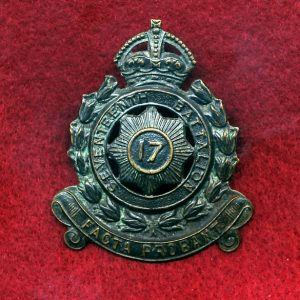 17 INF BN Hat Badge (30/42)(North Sydney Regt.)