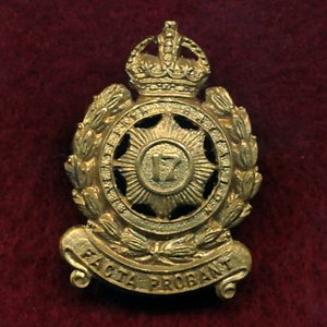 17 INF BN Collar Badge (30/42)(North Sydney Regt.)