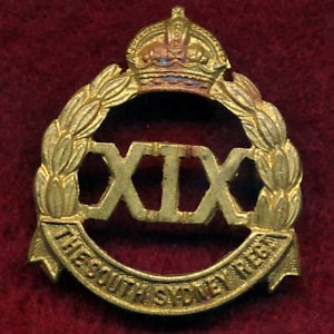 19 INF BN - Collar Badge  (South Sydney Regt.)