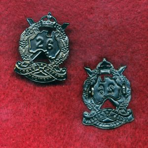 26 INF BN Collar Badge (Logan & Albert Regt.)