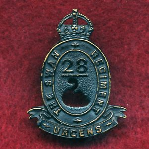 28 INF BN Collar Badge (w/L)  (Swan Regt.) (30/42)