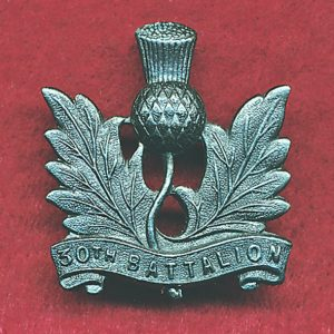 30 INF BN Collar Badge (NSW Scottish Rifles) (48/53)