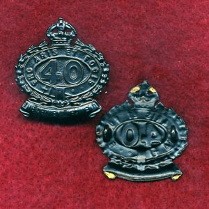 40 INF BN Collar Badge (Derwent Regt.) (30/42)