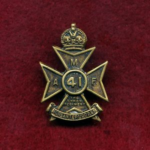 41 INF BN Collar Badge (Byron Regt.) (30/42)