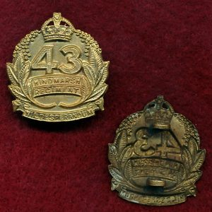 43 INF BN Collar Badge (Hindmarsh Regt)