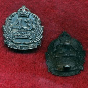 43 INF BN Collar Badge (Hindmarsh Regt) (30/42)