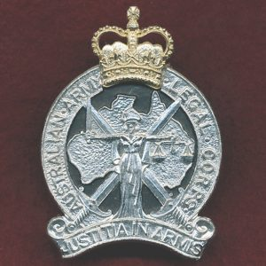 Hat Badge - Australian Army Legal Corps  (A/A) (S&H)