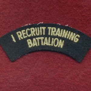 1 Recruit Training Battalion Shoulder Title (u/B)