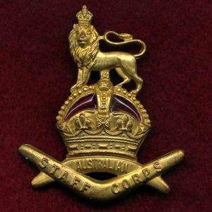 Hat Badge - Staff Corps (30/42)