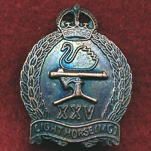 25th Light Horse Regiment Collar Badge (30/42)(w/R)