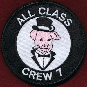 "Novelty Patch - ""Officers Course.. Crew 7  - All Class"""