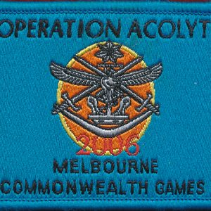 Operation Acolite -  Melbourne C'wealth Games  2006