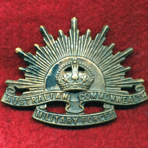 Hat Badge - G.S. Rising Sun (ACMF) (GSRS0078)