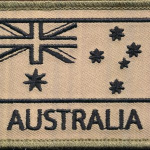 Australian National Flag (Black/Tan)