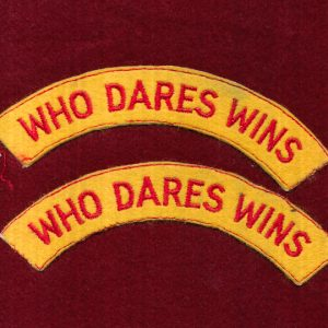 UK - Shoulder Title - WHO DARES WINS (Qty x 2)