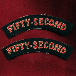 UK - Shoulder Title - FIFTY - SECOND  (Qty x 2)