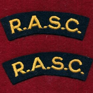 UK - Shoulder Title - R.A.S.C.  (Qty x 2)