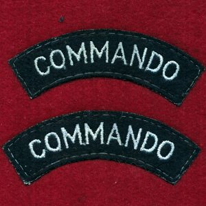 "UK - Shoulder Title - ""COMMANDO""  (Qty x 2)"