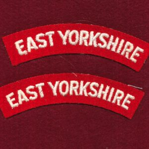 "UK - Shoulder Title - ""EAST YORKSHIRE""  (Qty x 2)"