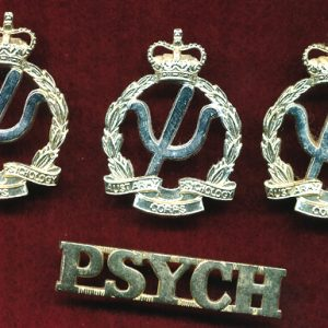Hat/cap/collar and Title badges -  Psychology Corps (A/A)