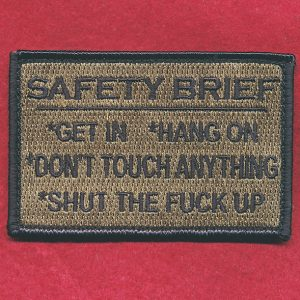 Novelty Patch - Safety Brief (#2)