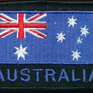 Australian National Flag  (Black) (Blue Lettering)