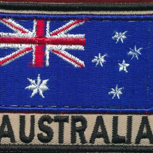 Australian National Flag - (Black/Tan) (Afghanistan)