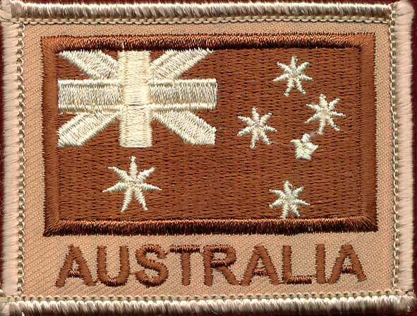 Australian National Flag - Tan  (Subdued)