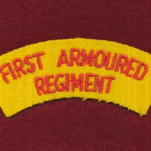 1st Armoured Regiment Embroidered Shoulder Title (#3)