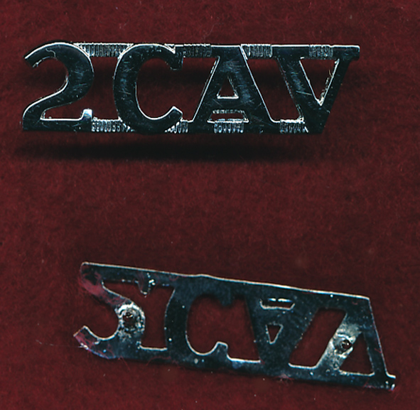 2 CAV REGT -  Metal Shoulder Title (post 97)