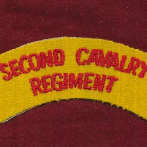 2 CAV REGT - Embroidered Shoulder Title (u/b)