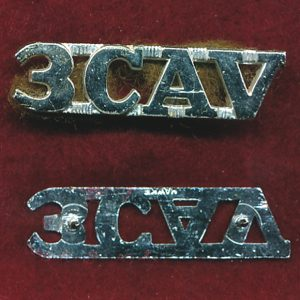 3 CAV REGT -  Metal Shoulder title  (67/84)