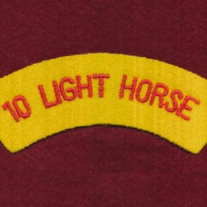 10th Light Horse Regiment Embroidered Shoulder Title