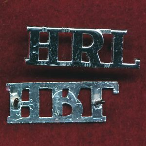 HRL Metal Shoulder Title (A/A)