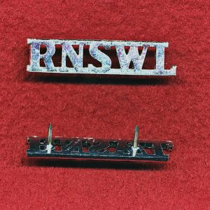 1/15th RNSWL  Metal Shoulder Titles (A/A)