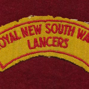 1/15th  RNSWL  Embroidered Shoulder Title  ( B)