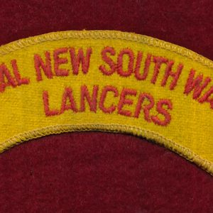 1/15th RNSWL  Embroidered Shoulder Title  (u/ B)