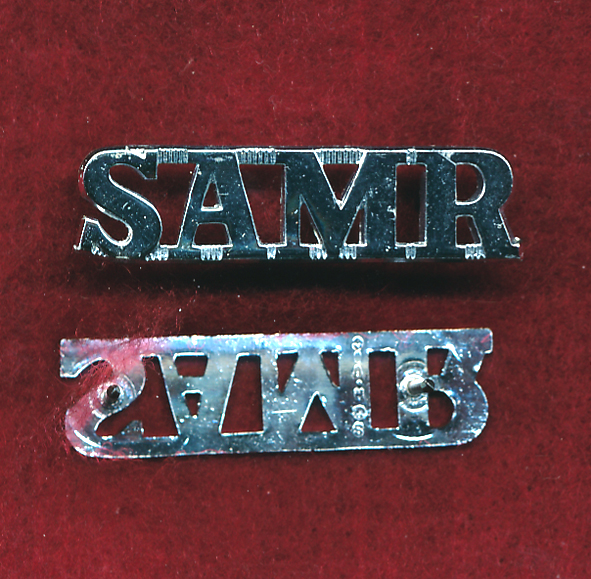 3/9 SAMR - SAMR Metal Shoulder Title