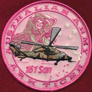 161 Recce Sqn, 1 Aviation Regt patch (Breast Cancer Awareness)