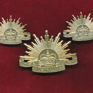 Hat & Collar Badges -  General Service Rising Sun (A/A)