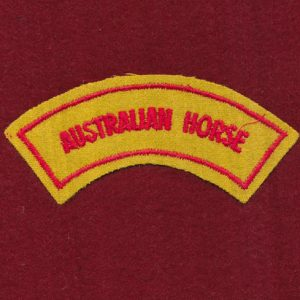 Australian Horse Embroidered Shoulder Title