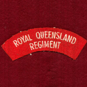 RQR Embroidered Shoulder Title (u/b)