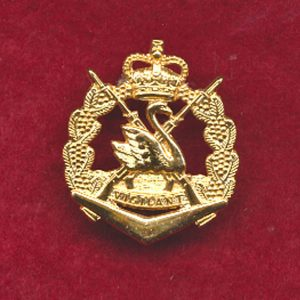 RWAR  Collar Badge (post 60) (w/R)