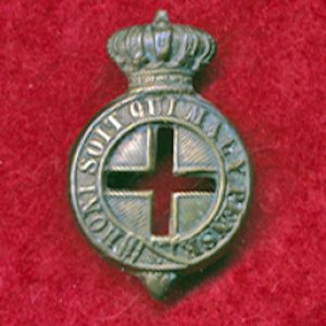 NSW Medical Staff Corps Collar Badge (1888-98) (#1)