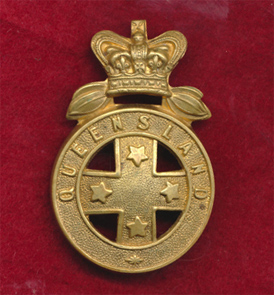 Queensland Mounted Infantry Hat Badge (1860)